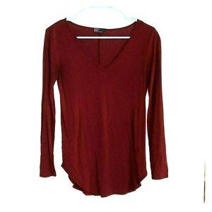 Gap wine/burgundy long sleeve top